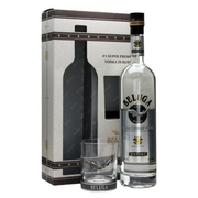 Beluga Noble Vodka Gift Pack with Rocks Glass 0.7L