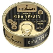 Diplomats Smoked Riga Sprats in Oil Can 160g
