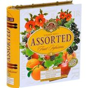 Basilur Assorted Fruit Infusions #1 Summer Fiesta Tea Metal Caddy 32 Sachets