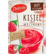 Delecta Water Based Pudding Kissel Jelly Raspberry 58g