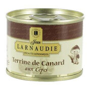 Jean Larnaudie Duck Pate Terrine with Porcini Mushrooms Tin 65g