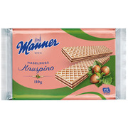 Manner Knuspino Crispy Wafers Filled with Hazelnut Cream 110g