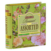 Basilur Assorted Tea Bouquet Metal Caddy 32 Sachets