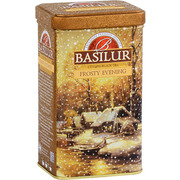 Basilur Frosty Evening Loose Leaf Tea Metal Caddy 85g