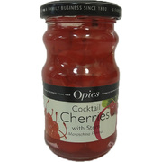 Opies Cocktail Maraschino Cherries with Stem 225g