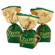 Solidarnosc Chocolate Candies Golden Hazelnut Zloty Orzech Loose 250g