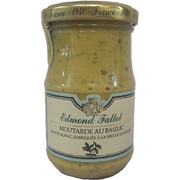 Edmond Fallot Dijon Mustard with Basil and White Wine 205g