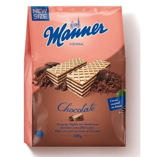 Manner Cream Filled Wafers Chocolate 200g