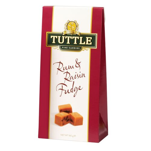 Tuttle Rum & Raisin Fudge 180g
