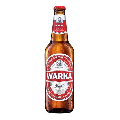 Warka Classic Red Lager Beer Bottle 0.5L